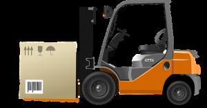 Rozładunek towaru wózkiem widłowym